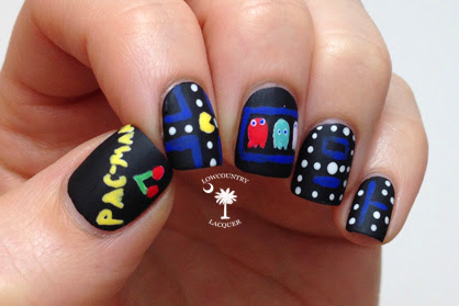 pac man nails lowcountry lacquer