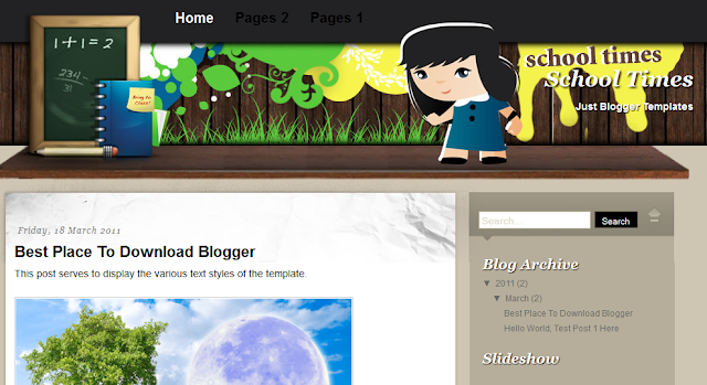 School Theme Blogger Template
