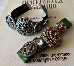 Bracelet with vintage buttons