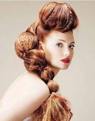 Abartılı kabarık topuz saç modelleri 2012