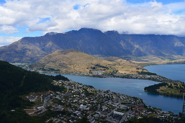 Lake Wakatipu as seen from the Gondola Ride, Queenstown, New Zealand