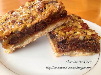 Chunky Pecan Bars | Addicted to Recipes