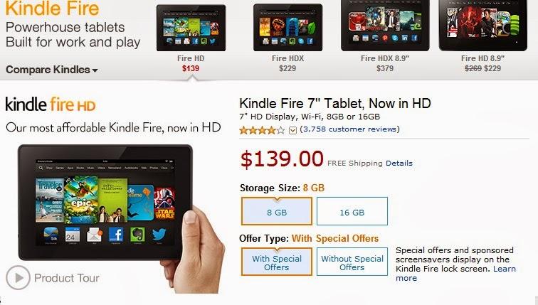 "<a href=""http://www.amazon.com/gp/product/B00C5W16B8/ref=as_li_tf_tl?ie=UTF8&camp=1789&creative=9325&creativeASIN=B00C5W16B8&linkCode=as2&tag=gooblonam-20"">Kindle Fire HD 7"", HD Display, Wi-Fi, 16 GB - Includes Special Offers</a>"