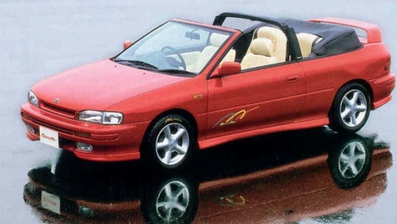 Subaru Impreza I, 1st, 1-gen, zdjęcia, japoński sportowy samochód, kultowy, 日本車, スポーツカー, スバル, operetta kabrio convertible