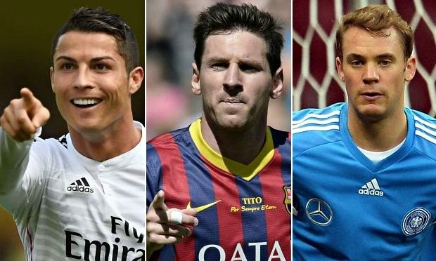 Cristiano Ronaldo, Messi & Neuer masuk dalam nominasi Ballon d'Or