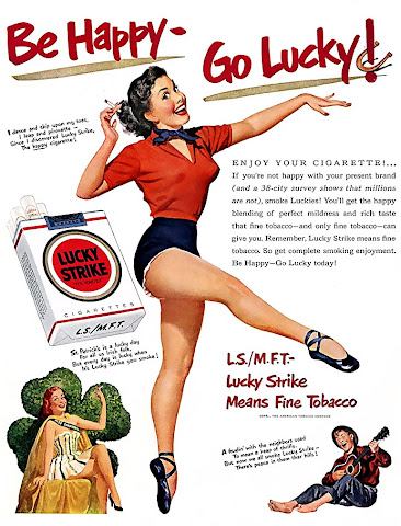 Lucky Strike pin up vintage ads
