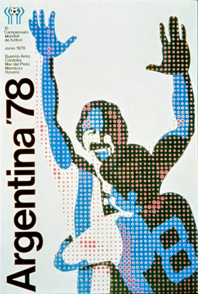 Cartaz oficial da Copa do Mundo de 1978, realizada na Argentina.