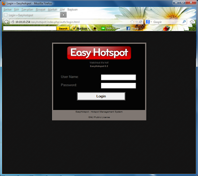 easyhotspot login administrator