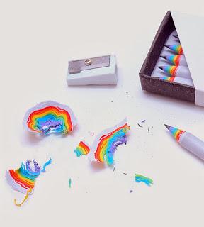 Rainbow pencils, lápices arco iris