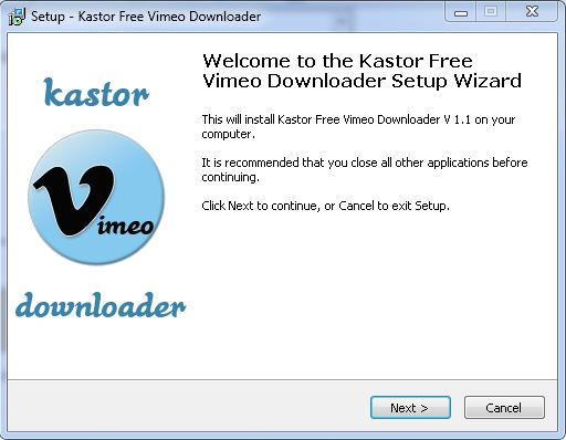now install vimeo downloader