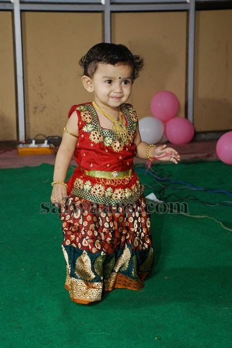 Little Cutie in Benaras Skirt