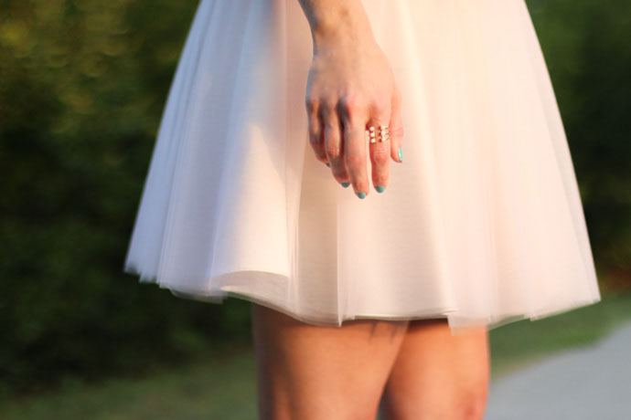 bliss tulle lauren mini skirt