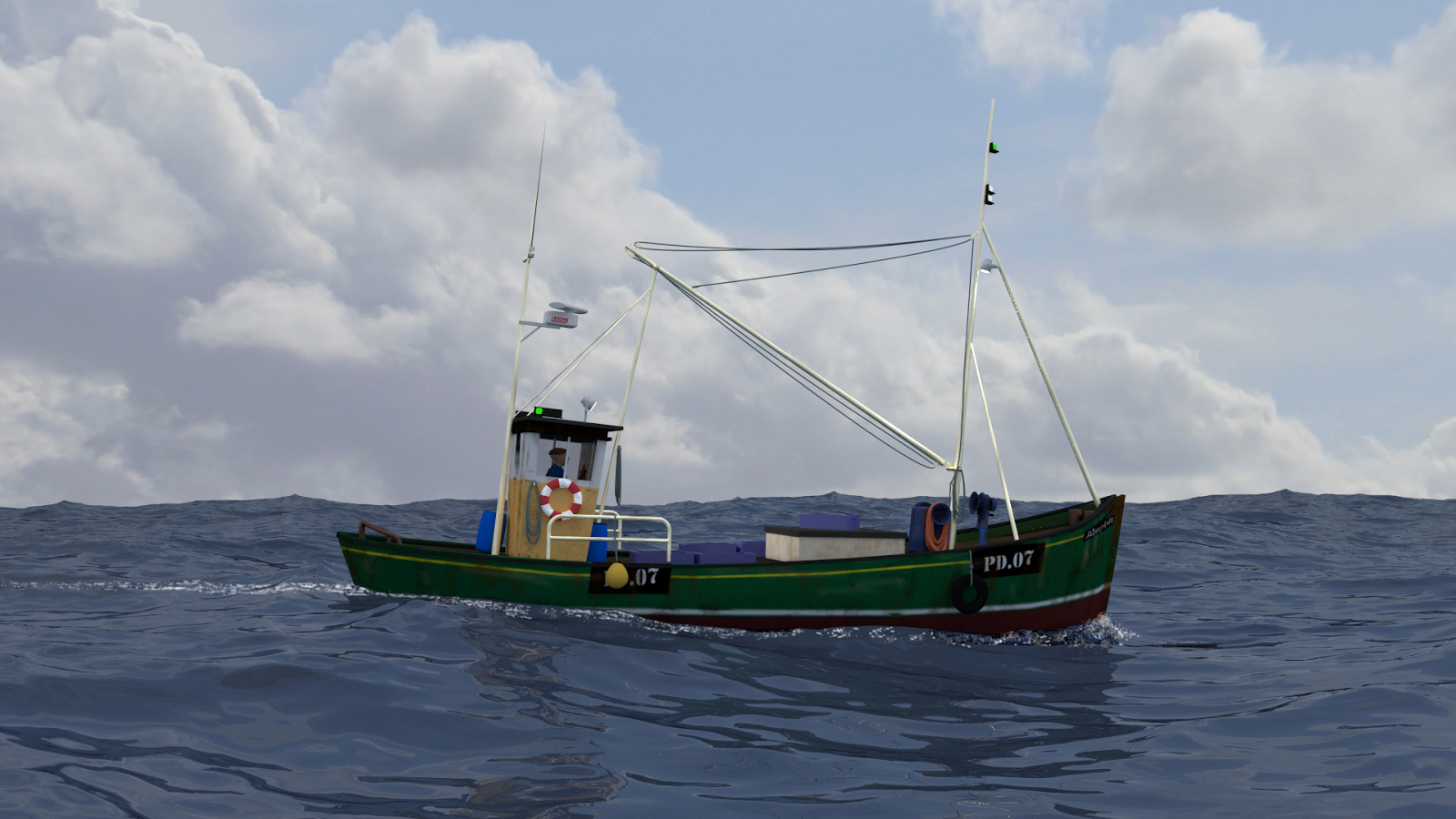 Wee shuftie 3d art small fishing boat for A small fishing boat