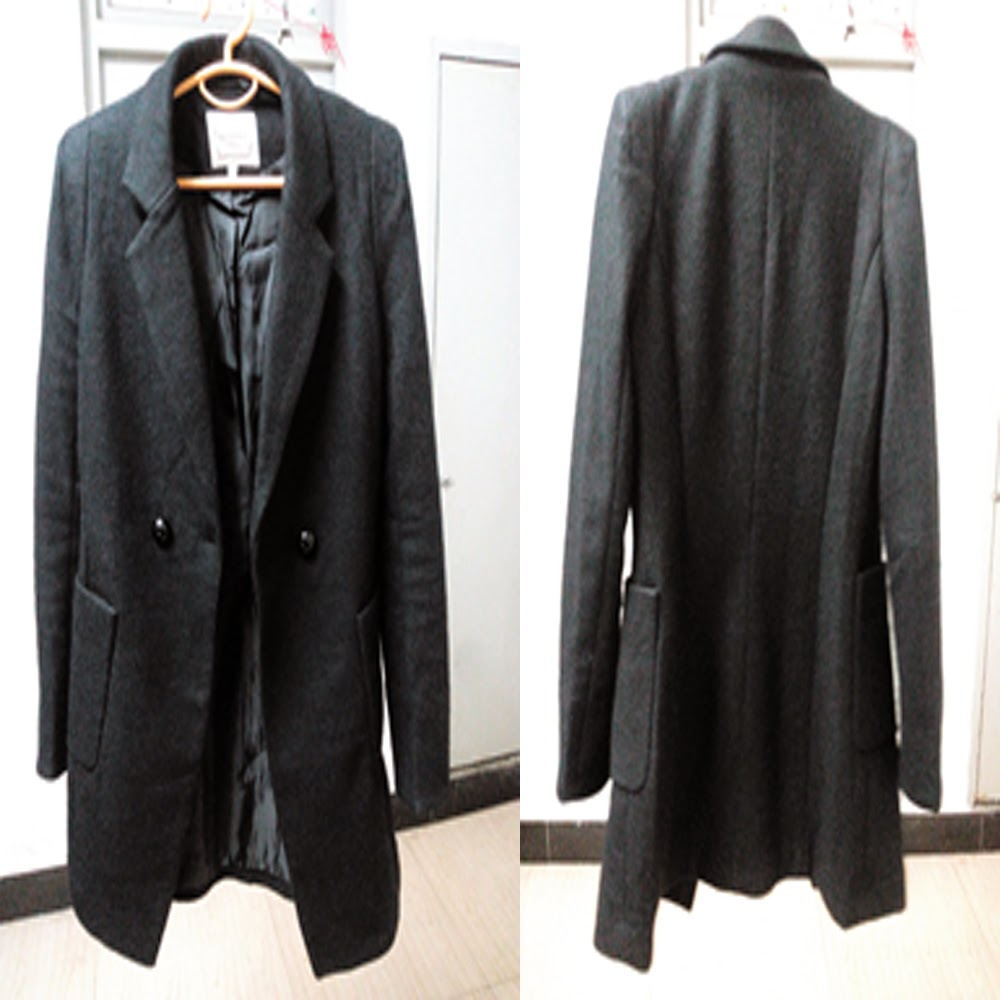 Long Black Blazer Coat 1