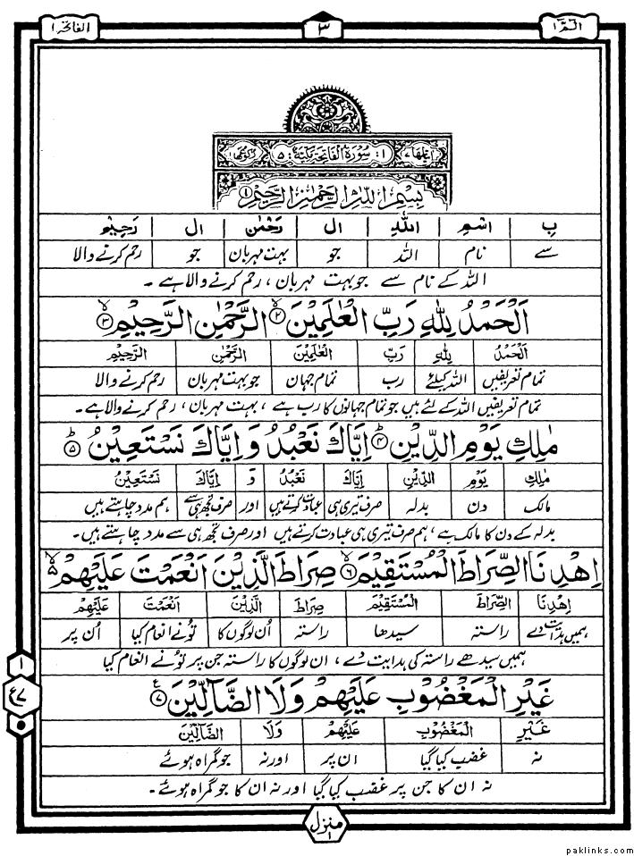 surah fatiha in english pdf