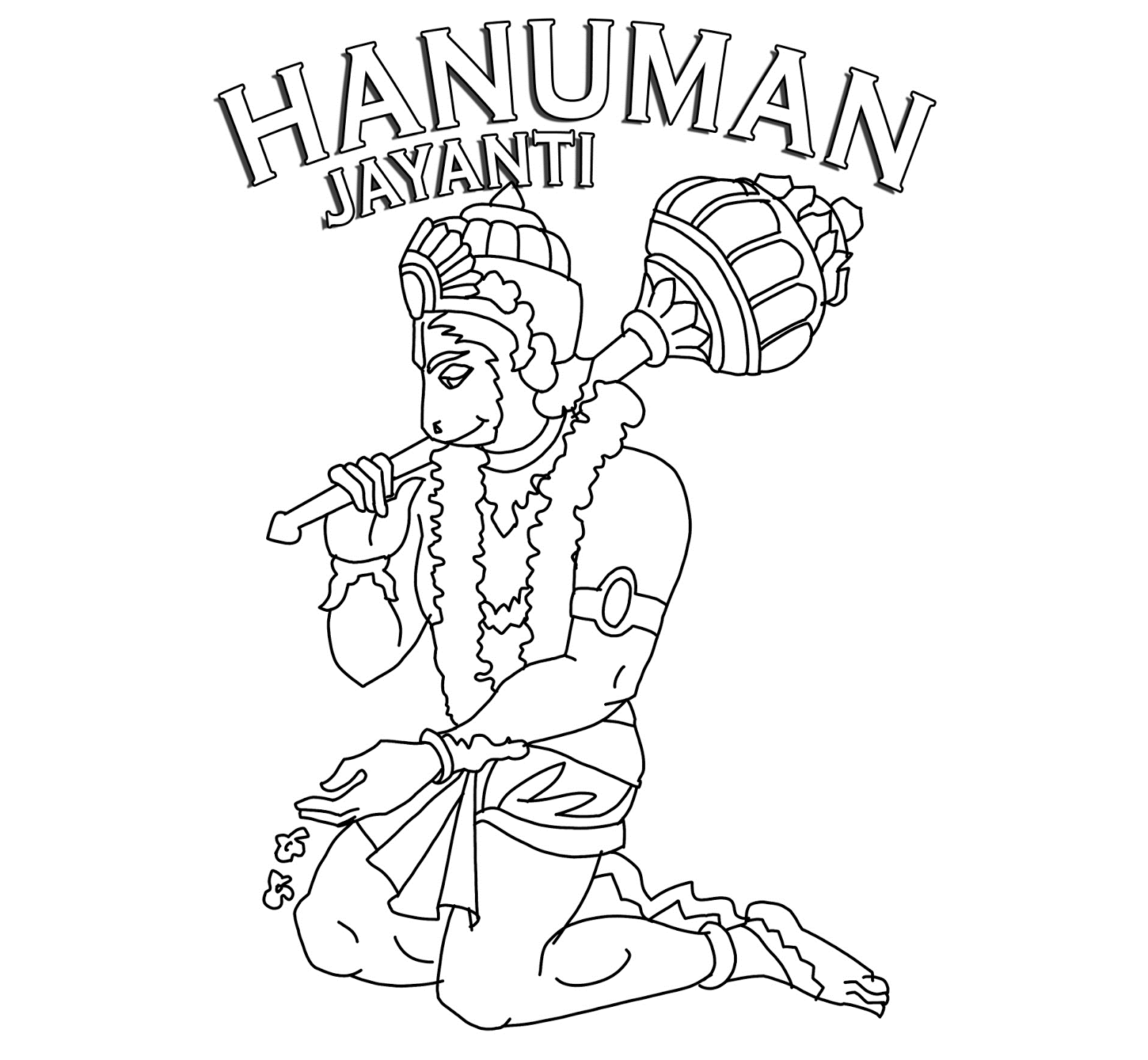 Sketch Of Lord Hanuman Coloring Coloring Pages