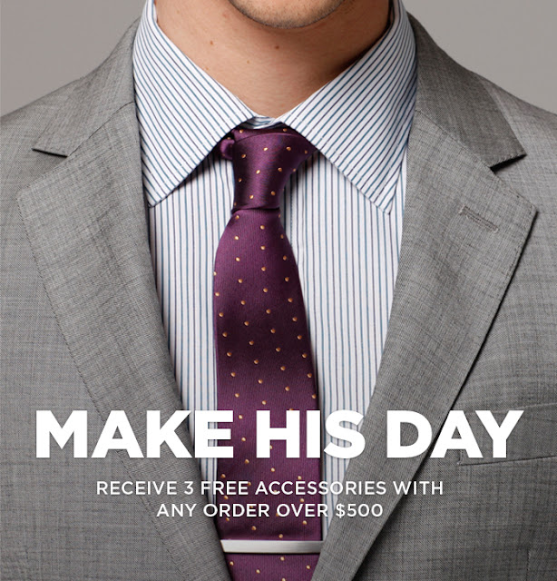 Indochino Father's Day Promo Coupon 2012 3 free accessories
