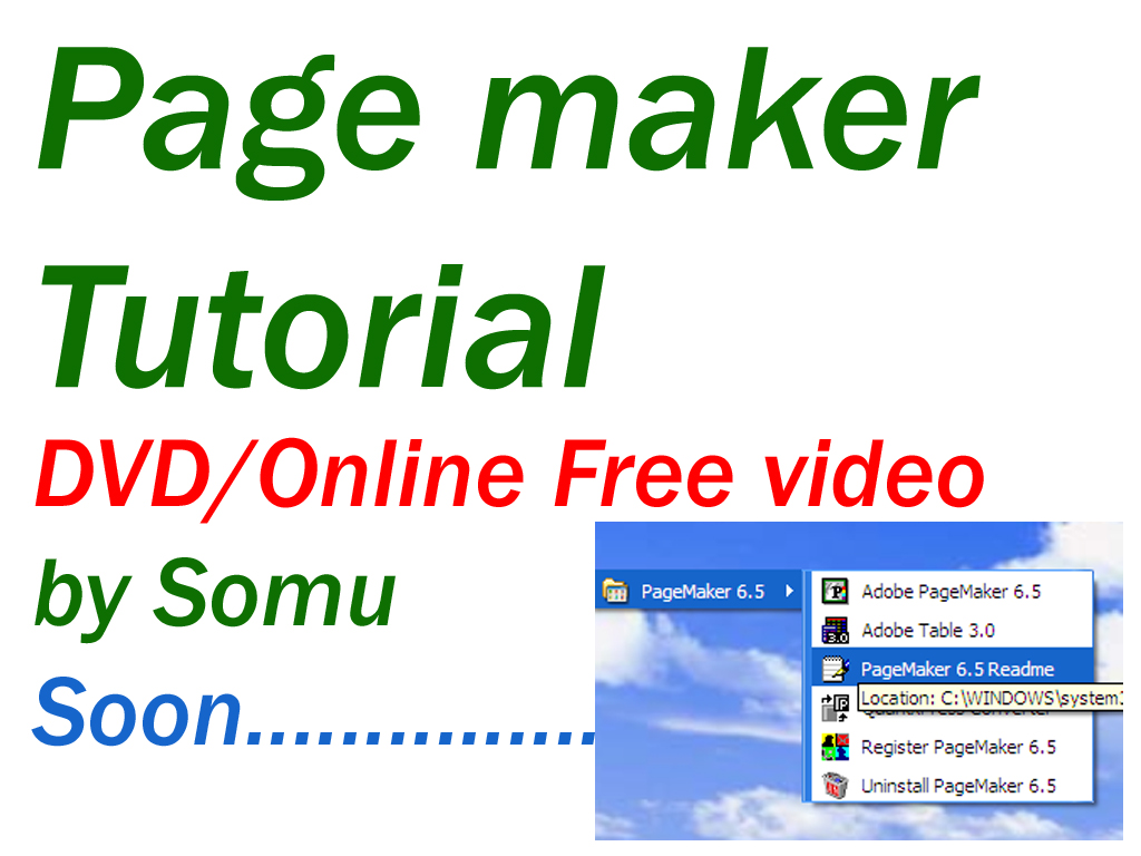 Somu Colors  Page Maker Telugu Tutorial Dvd   Free Online