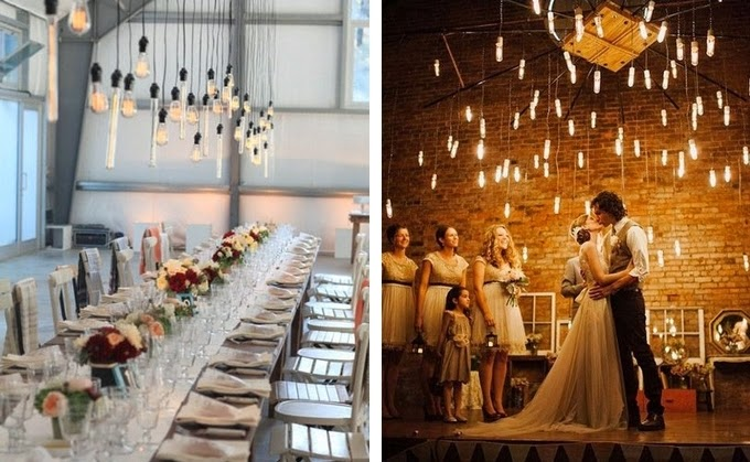 Edison Light Bulbs - Creative Lighting Ideas for Your Wedding Reception