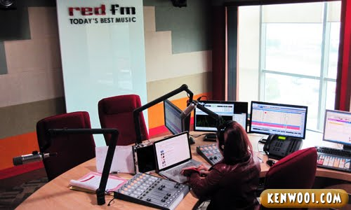 red fm broadcasting room