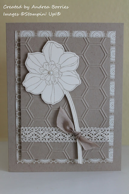 Card made with Secret Garden stamp set.