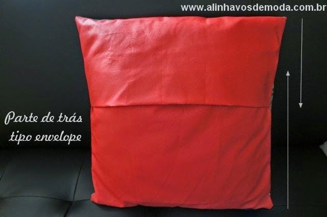 Almofada tipo envelope - costas
