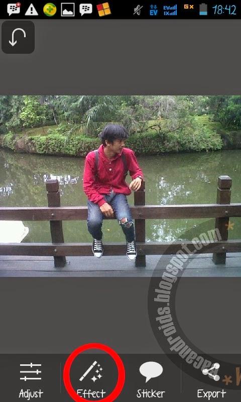 Edit Foto Menambahkan Sayap dengan Android