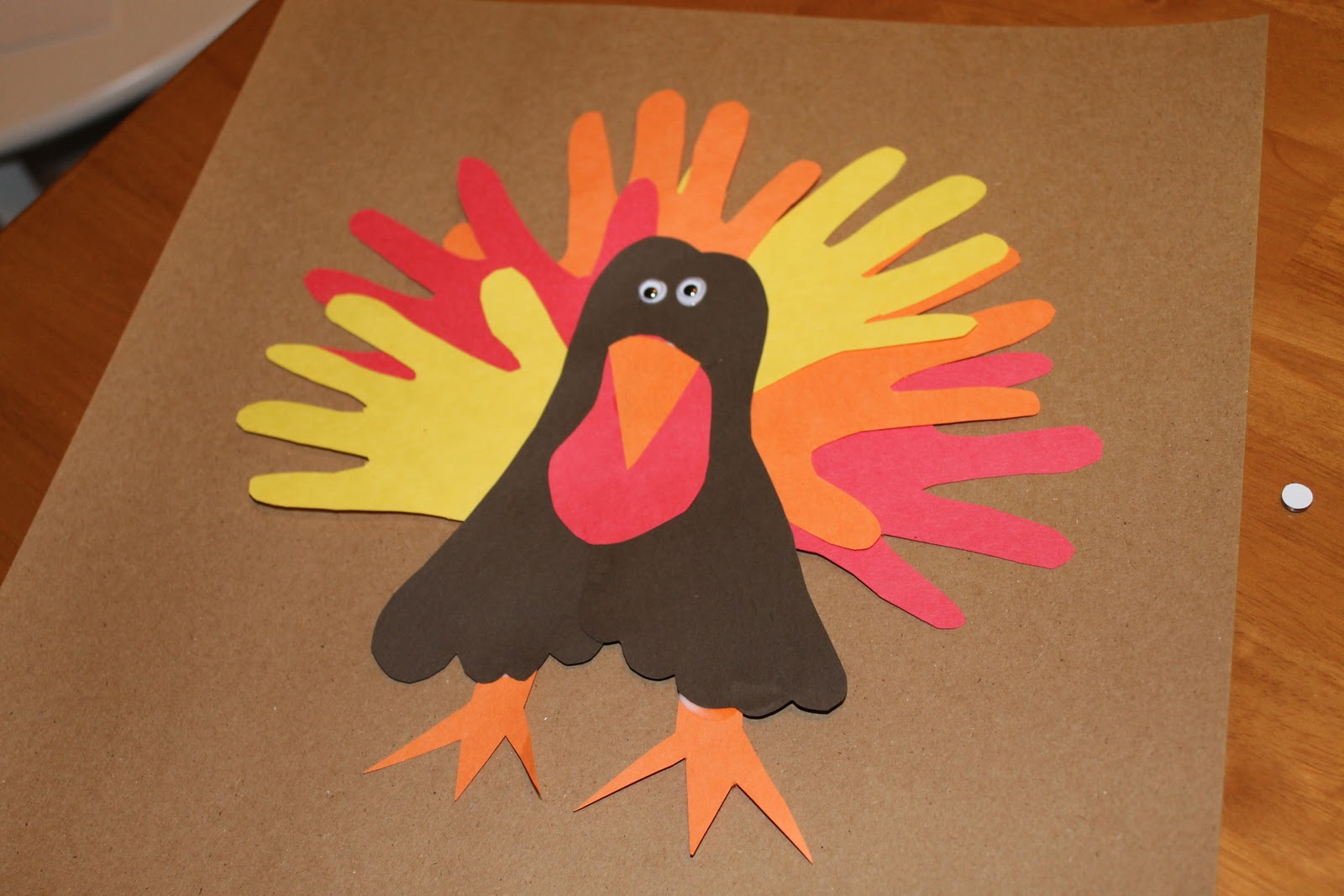 Play for a day hand and foot turkey craft for Hand and foot crafts