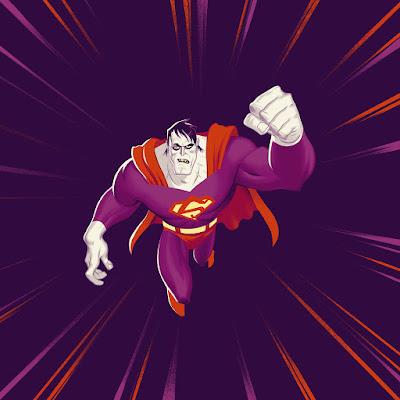 MondoCon 2 Exclusive Bizarro Edition Superman: The Animated Series Die-Cut Single Record by Shirley Walker x Phantom City Creative x Mondo