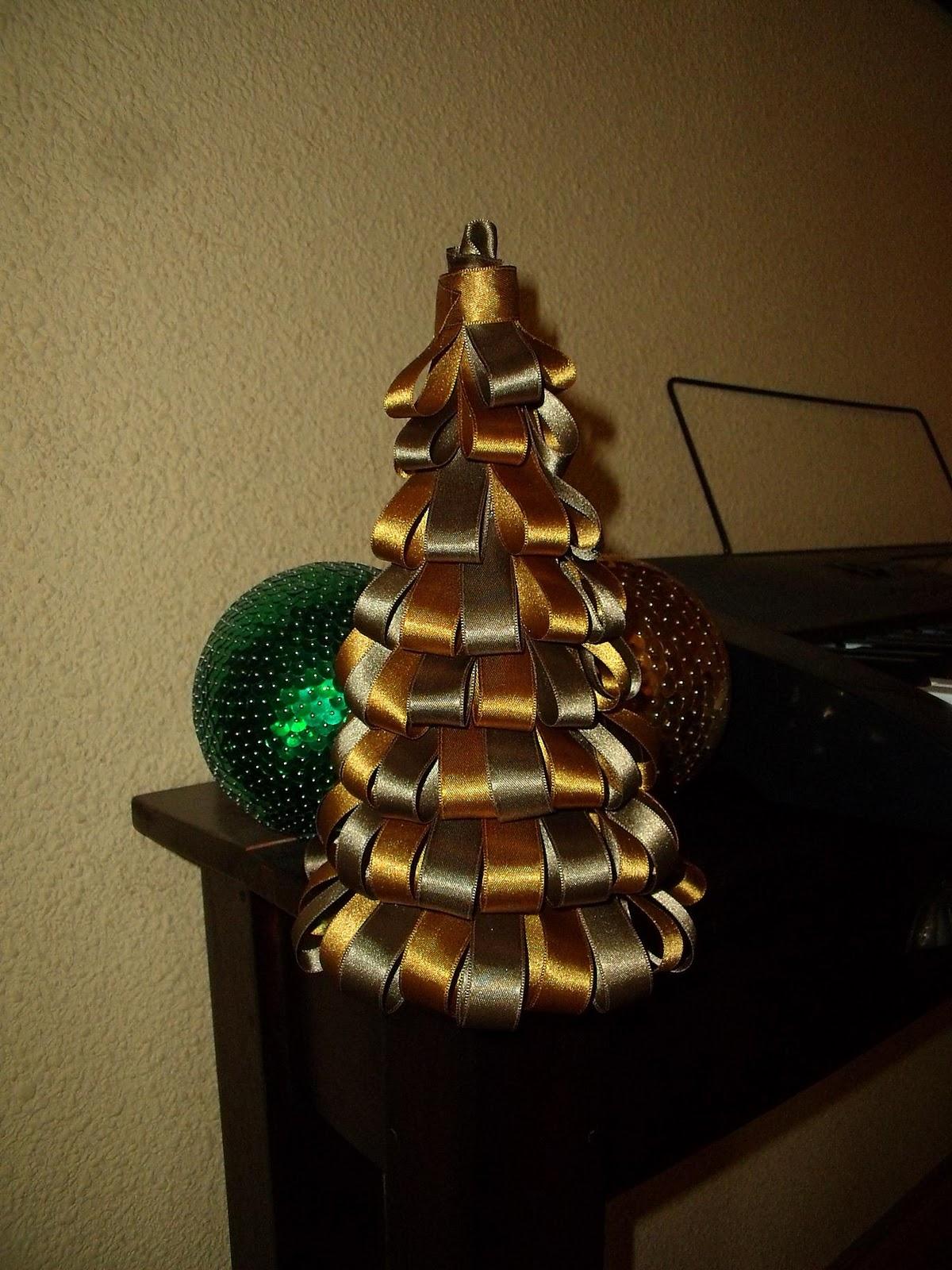 Manualizando arbolito de navidad con lazos - Lazos para arbol de navidad ...