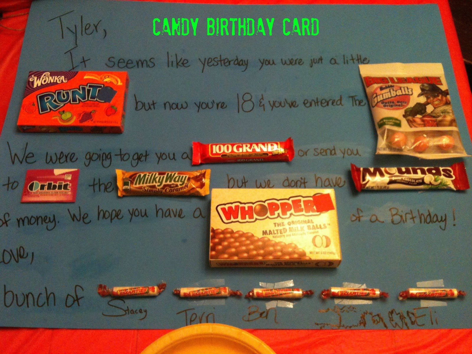 Creative parenting candy birthday card candy birthday card this past weekend we celebrated my nephews 18th birthday i had no idea what to get him and i had a very limited budget bookmarktalkfo Images
