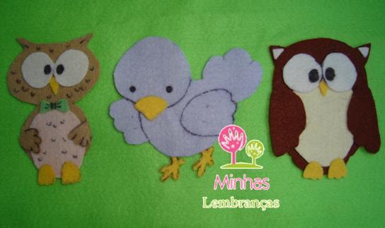 Aves em feltro