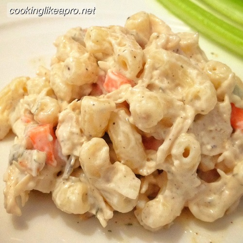 Macaroni chicken salad
