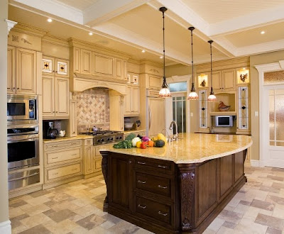 Tuscan Style Kitchen kitchen and bathroom designs: countertops backsplash flooring
