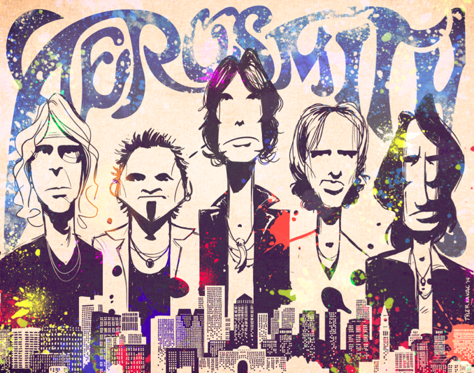 Aerosmith, Rock Stars, Digital Art, Boston