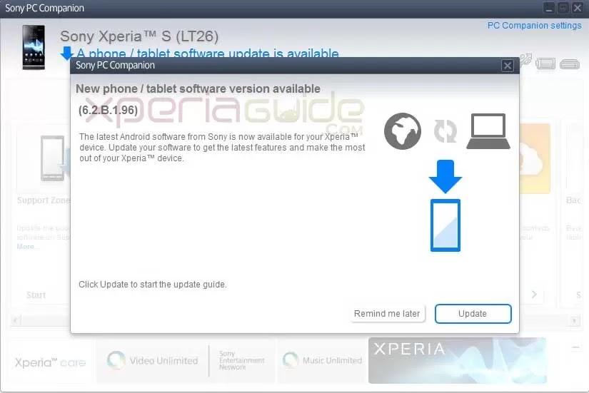 Xperia Firmware Update Download