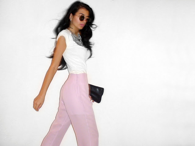 pastel pink outfits pinterest