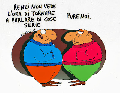 Renzi parla di cose serie