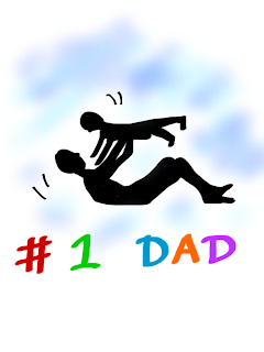 Father and Child Cartoon For Father's Day