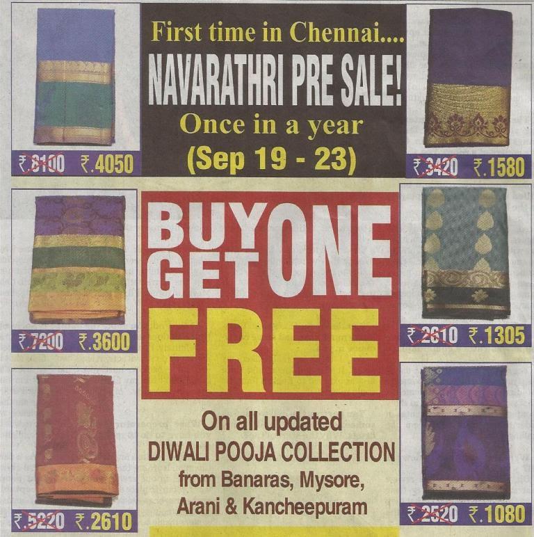 Retail Promotion, Lifestyle Retail, Sale, Offer, Apparel, Sarees
