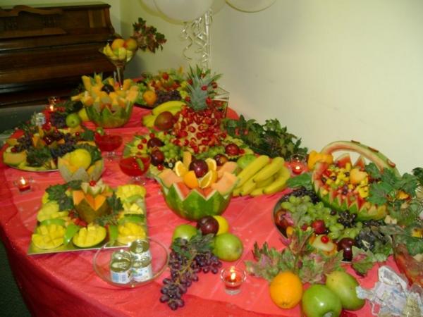 Servfest mesa de frutas decoradas - Adornos de frutas para mesas ...