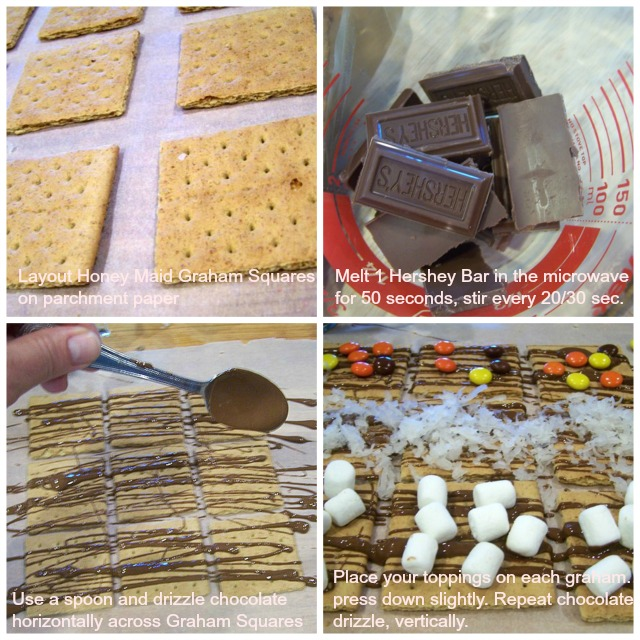 Step by Step instructions on making S'mores Crackers