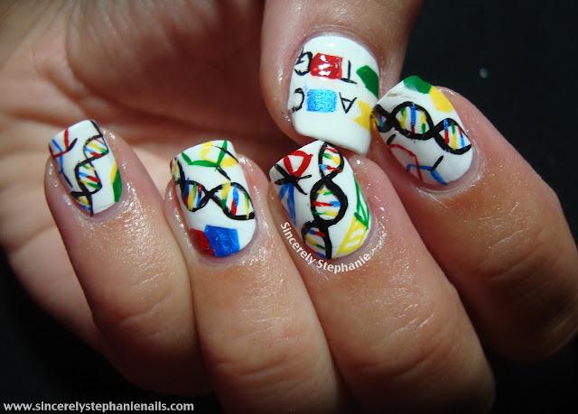 dna nail art