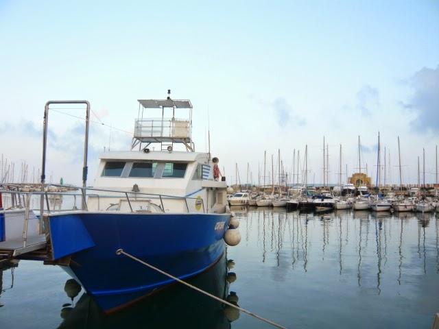 Ausflugsboot in Imperia