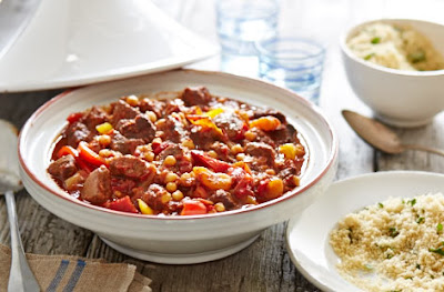 Fragrant slow cooked beef in a Moroccan spice mix with chickpeas Slow cooked beef tagine recipe