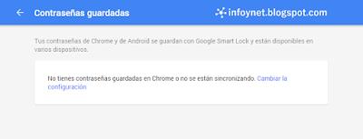 Ver las contraseñas guardadas en una cuenta de Google