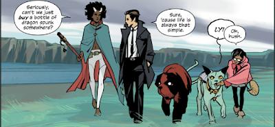 Imagen del cómic Saga creado por Brian K Vaughan y Fiona Staples