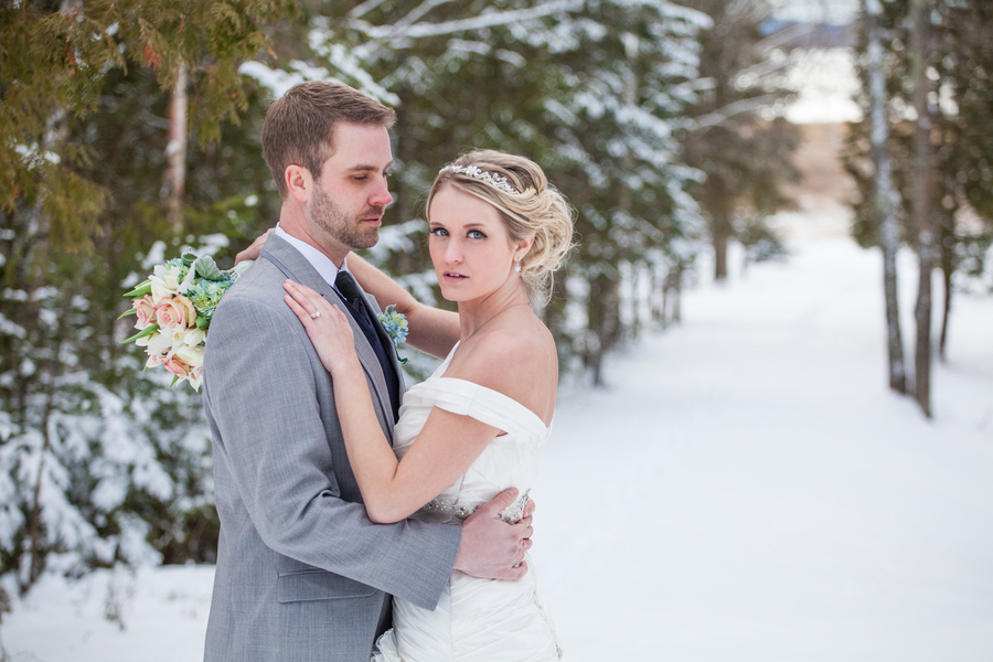 Woodland winter wedding