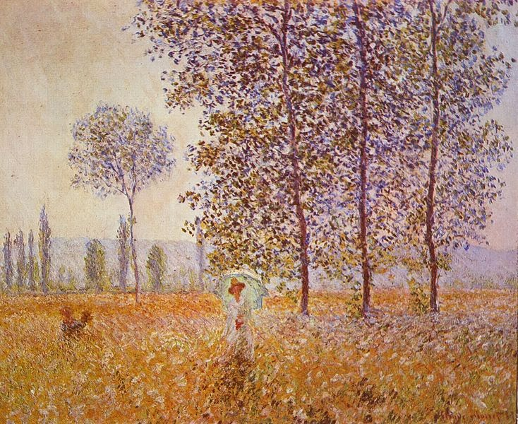 "Picture of ""Poplars in the Sun"" by Claude Monet, 1887"