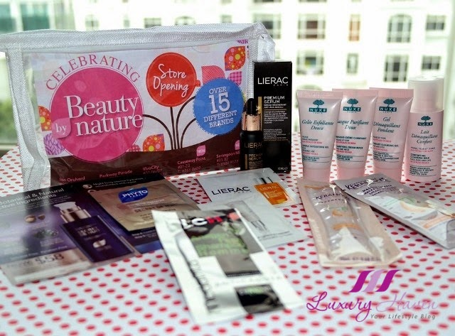 beauty by nature bloggers event goodie bag